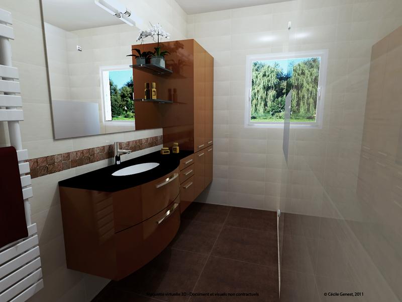 Salle de bain rennes nos realisations en r novation et for Creer une salle de bain en 3d