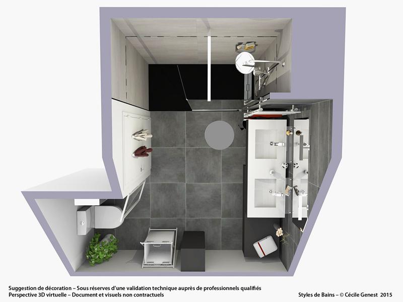 Salle de bain rennes nos r alisations d couvrez nos salles for Renovation salle de bain sans fenetre
